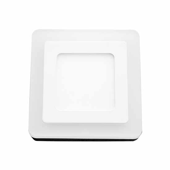 6W+2W TWINLED Surface Panel - Square 120° 560LM White 6000K