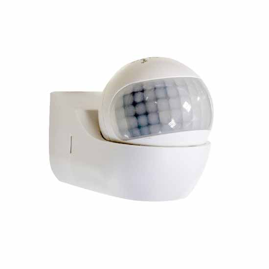 PIR Wall Sensor 180° With Moving Head White IP44