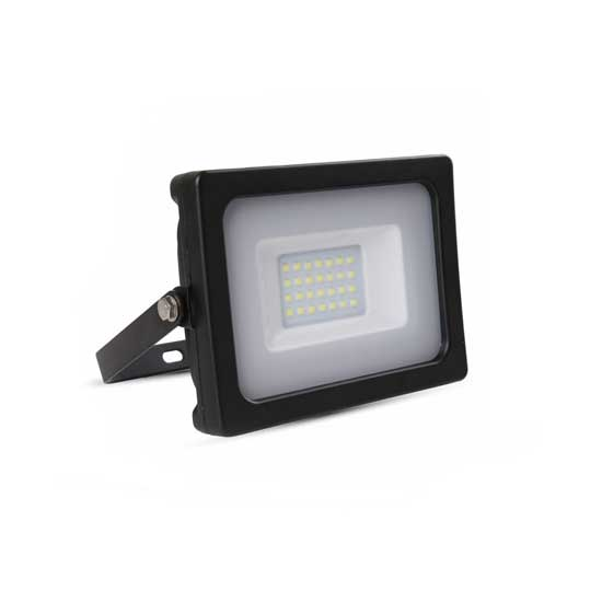 Projecteur LED SLIM 20W SMD 6400K 100° 1600LM IP65 - Noir