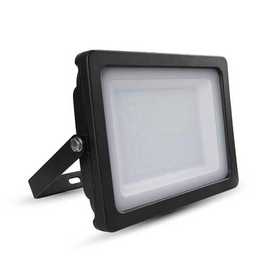100W LED SLIM Floodlight SMD 4000K 100° 8500LM IP65 - Black
