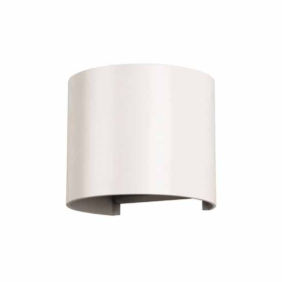 6W Wall Lamp White Aluminium Body Round IP65 4000K 660LM 60°