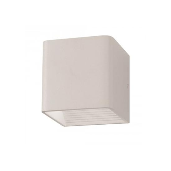 5W Wall Lamp White Aluminium Body Square IP20 4000K 550LM 120°
