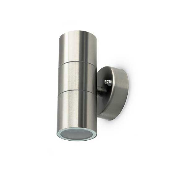 Wall Glass Fitting GU10 Steel Body 2 Way IP44 2xGU10 - SKU 7500