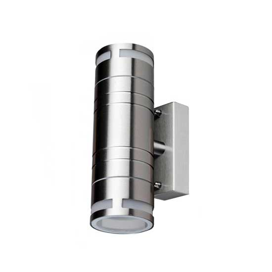 Wall Glass Fitting GU10 Steel Body 2 Way 230V IP44 2xGU10