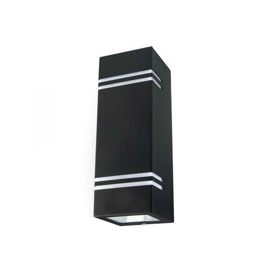 Wall Sleek Wall Fitting GU10 Inox Steel BodySquare Black 2 Way I