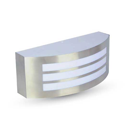 Garden Wall Lamp E27 With Stainless Steel And PC IP44 2 Line