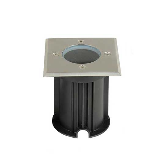 Under Ground Fitting Steel Body GU10 Black Square IP65