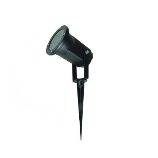 Garden Spike Lamp Outdoor Black Aluminium GU10 230V IP44