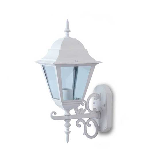 Garden Wall Large Lamp IP44 Facing Up E27 Matt White Holder E27