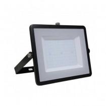 V-TAC PRO VT-100 Projecteur LED 100W slim noir Chip Samsung SMD blanc chaud 3000K  - SKU 412