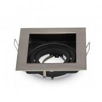 V-TAC VT-781SQ Portafaretto quadrato orientabile da incasso per lampade gu10-gu5.3 - SKU 3598