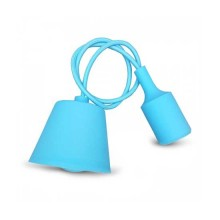 E27 Decoration Pendant Holder 1MT - Mod. VT-7228 SKU 3482 - Light Blue