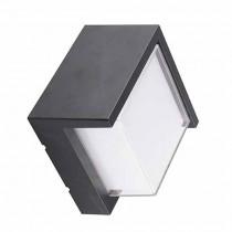 V-TAC VT-831 7W wall light warm white 3000K square black body IP65 waterproof - sku 8610