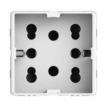 Side multistandard 2P+T 16A 250V Drei Steckdosen in einer für Gewiss System weißer Körper 4Box 4B.G20.H21