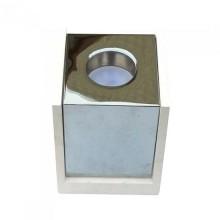 V-TAC VT-860 Portafaretto soffitto quadrato in gesso bianco con bordo metallo cromato per 1xGU10-GU5.3 - sku 3116