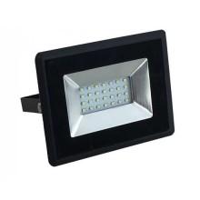 V-TAC VT-4021 20W LED flutlicht ultra slim e-series neutralweiß 4000K schwarz körper IP65 - SKU 5947