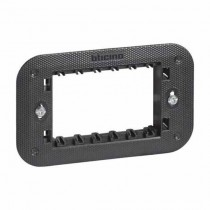3-module support supplied with protective shell and fixing screws Bticino Living Now K4703