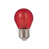 V-Tac VT-2132 Lampadina Bulbo 2W E27 G45 filamento vetro colorato rosso - SKU 7413