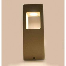 V-TAC VT-898-D 12W Led garden Concrete light lamp light grey body IP65 warm white 3000K - SKU 8699