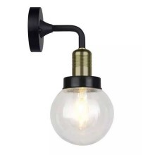 V-TAC VT-720 Garden Wall Lamp Facing-down metal matt black and holder brown bronze body 1xE27 IP65 - sku 8970