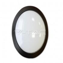Lampada LED tutta ovale esterno 12W IP66 Mod. VT 8010 SKU 4973 - bianco naturale 4500K - Nero