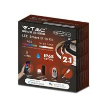 V-TAC Smart Home VT-5050 Kit striscia led RGB+3IN1 SMD5050 + SMD2835 WiFi IP65 dimmable gestione smartphone - sku 2628