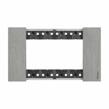 4 modules Bticino Living Now plate steel color KA4804ZG