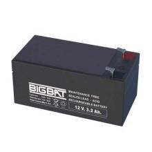 Rechargeable batteries au plomb VRLA 12V 3,2Ah Elan BigBat - sku 01203