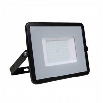 V-TAC PRO VT-50 50W Led Floodlight black slim Chip Samsung SMD cold white 6400K - SKU 408