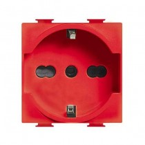 A5440 / 16R BTICINO MATIX German standard socket bipasso schuko RED for special users