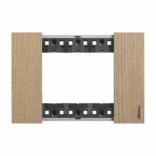 Placca Bticino Living Now 3 Moduli colore legno rovere KA4803LM