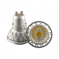 Led spotlight gu10 7w 220v cob 350lm cold white 6000K