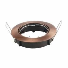 V-TAC VT-799RD portafaretto orientabile incasso rotondo colore bronzo satinato per lampade gu10-gu5.3 - SKU 8580