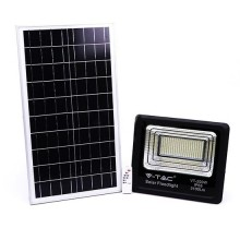 V-TAC VT-200W 200W LED Solar floodlight with IR remote control cold white 6000K Black body IP65 - 94026