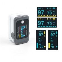Pulsoximetro saturimetro rilevazione ossigeno e frequenza cardiaca digitale SpO2 OXY-2