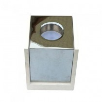 V-TAC VT-860 1xGU10-GU5.3 Concrete square white surface mounting gypsum with metal chrome for Spotlights - sku 3116