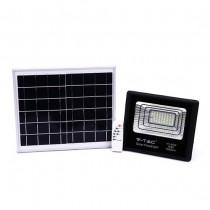 V-TAC VT-40W Faro led 40W autoalimentato nero con pannello solare 16W e telecomando 4000K IP65 – sku 8574