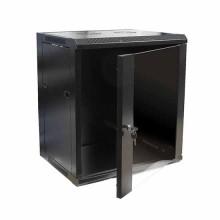 """Hanging Rack Cabinet Black RAL9004 19"""" 12U 450mm"""