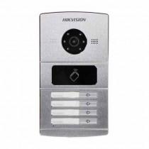 Hikvision DS-KV8402-IM Postazione esterna 4 pulsanti videocitofono IP con telecamere 1.3mpx e lettore di prossimità mifare IP65