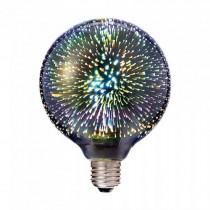 V-TAC VT-2223 Lampadina globo led 3W E27 G125 bianco caldo 3000K in vetro cromato effetto 3D - SKU 2706