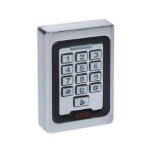 Standalone Keypad Access Control 12V key lock with RFID reader - Silver Metal IP40