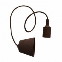 E27 Decoration Pendant Holder 1MT - Mod. VT-7228 SKU 3475 - Brown