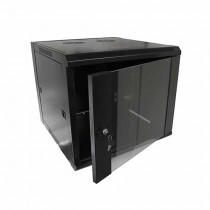 "Hanging Rack Cabinet Black RAL9004 19"" 9U 600mm"