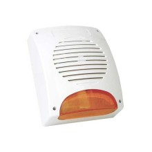 12V  Self-powered Außensirene 120dB Flash LED 10W ABS Weiß SIR24