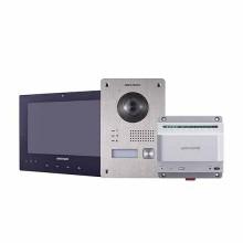 """Hikvision DS-KIS701/EU-B Kit Video Intercom 7 """"Touch 2-Draht Single Family Kamera Full HD 1080p Fisheye"""