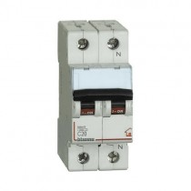 Switch magnethermic 1P+N C 20A - 4,5kA - 2M Bticino FC810NC20