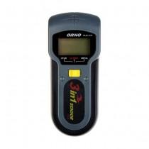 Rilevatore professionale digitale 3IN1 di cavi in tensione, metallo e legno segnalazione ottica e sonora Orno 90AE13116