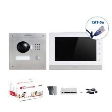 """Kit Interphone vidéo 7"""" Touch IP UTP CAT.5E 1.3Mpx 720p Famille unique Dahua VTO2000A-VTH1550CH"""