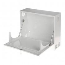 Hanging rack cabinet 3U 350mm Steel white body for cctv DVR / NVR