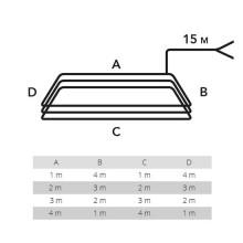 Spira magnetica per il rilevamento di masse metalliche perimetro 10MT LDC10